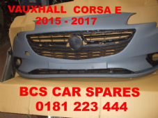VAUXHALL CORSA  E   FRONT BUMPER  COMPLETE INC GRILLS   NEW   2015  2016 2017    NEW NEW (1)